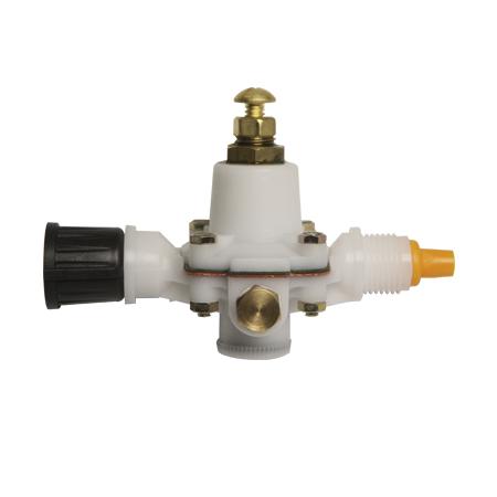 Flow regulator without pressure gauge